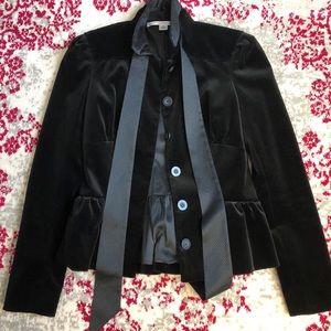 DVF Black Velvet Jacket